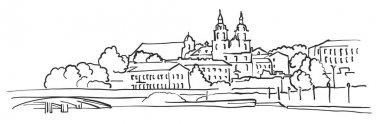 Minsk Belarus Panorama Sketch