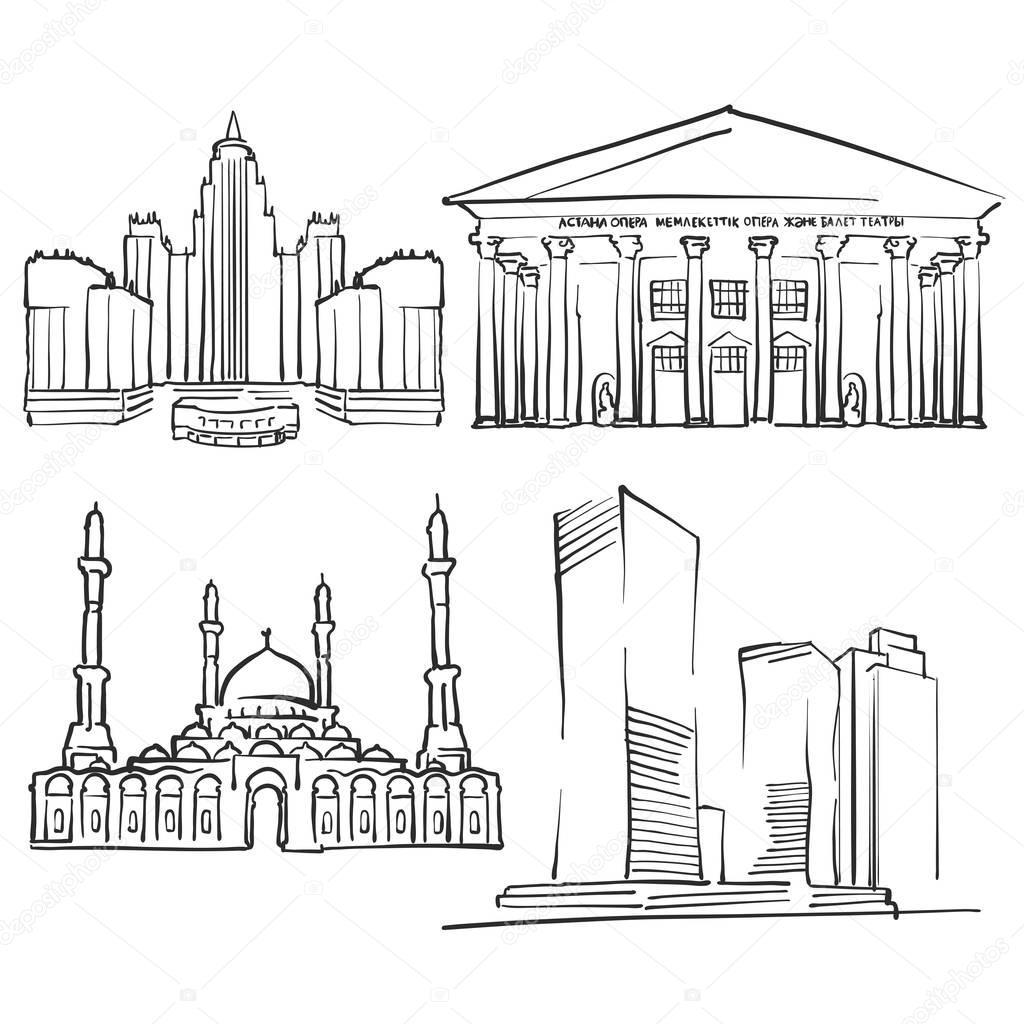 Astana Kazakhstan Famous Buildings