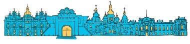 Kyiv, Ukraine, Colored Panorama