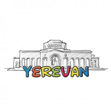 Yerevan beautiful sketched icon