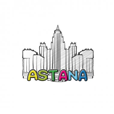 Astana beautiful sketched icon