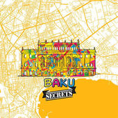 Baku Travel Secrets Art Map