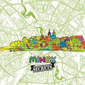 Minsk Travel Secrets Art Map