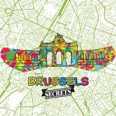 Brussels Travel Secrets Art Map