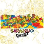 Sarajevo Travel Secrets Art Map