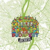 Budapest Travel Secrets Art Map