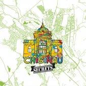 Chisinau Travel Secrets Art Map