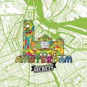 Amsterdam Travel Secrets Art Map