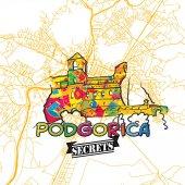 Podgorica Travel Secrets Art Map