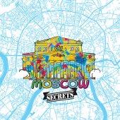 Moscow Travel Secrets Art Map