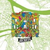 Belgrade Travel Secrets Art Map