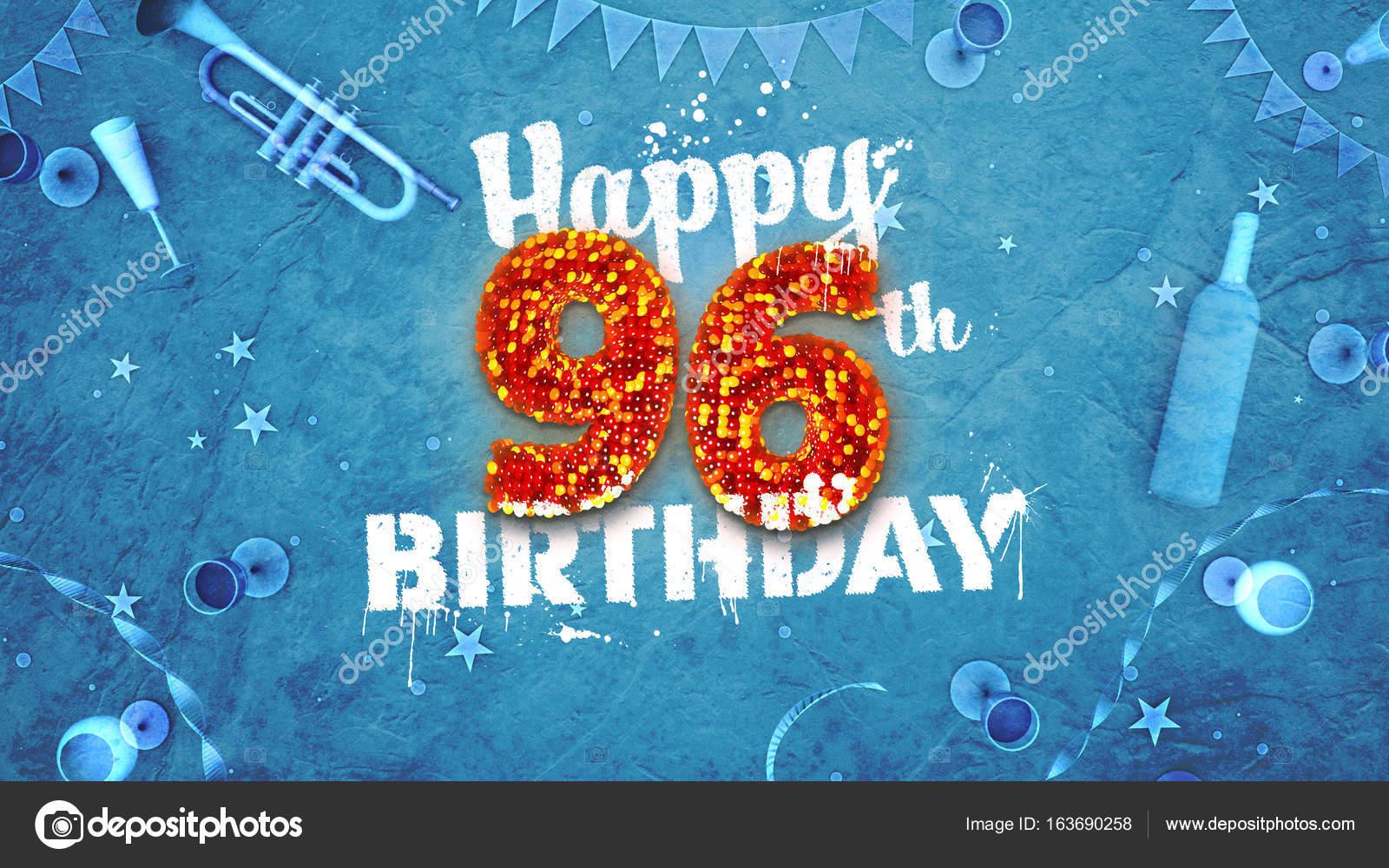 e födelsedagskort 96: e födelsedagskort med vackra Detaljer — Stockfotografi © mail  e födelsedagskort