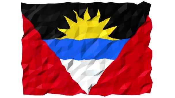 Flag of Antigua and Barbuda 3D Wallpaper Animation