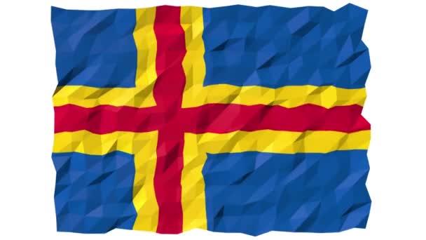 Vlajka země ostrovů 3d tapety animace