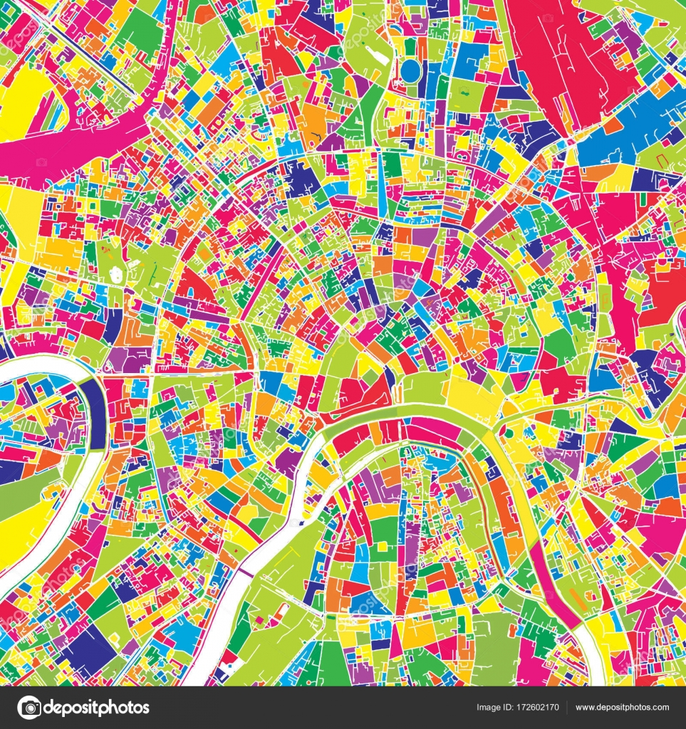 Moscow, Russia, colorful vector map — Stock Vector © mail.hebstreit ...