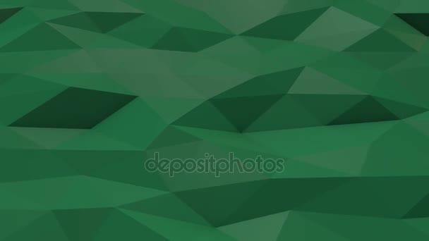 Zöld alacsony poly háttérben hullámzó