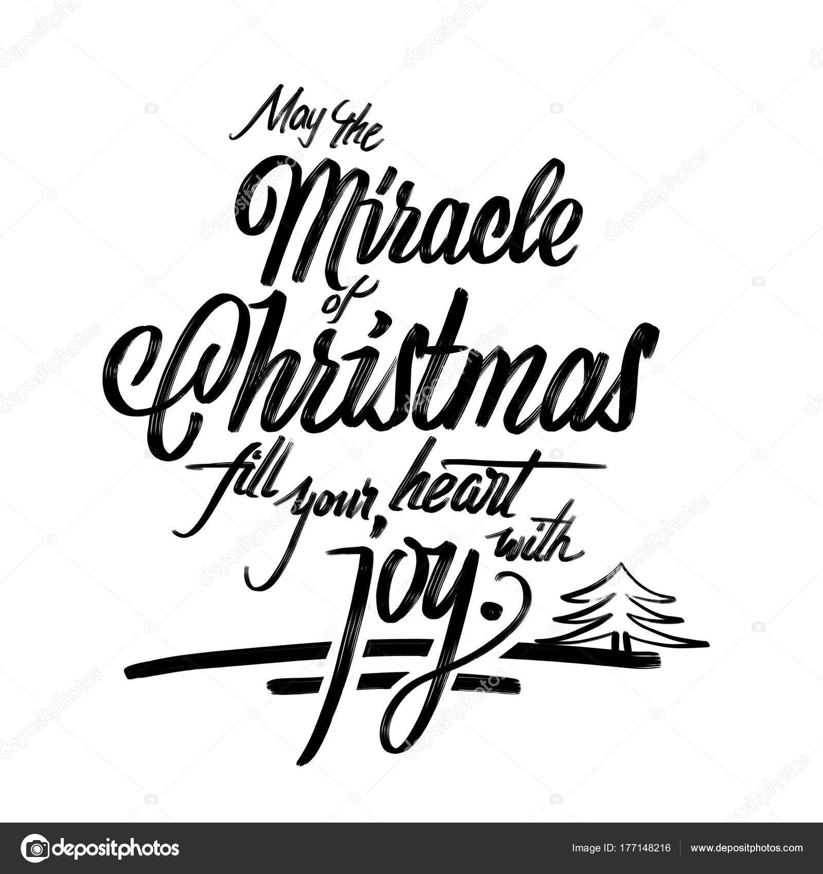 Frases Hechas Para Navidad.Milagro De La Frase De Postal De Navidad Foto De Stock