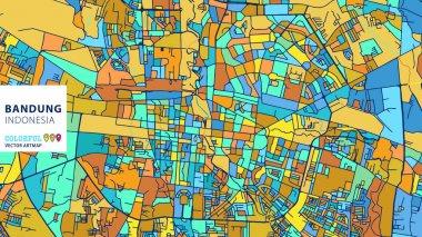 Bandung,��Indonesia, Colorful Vector Artmap