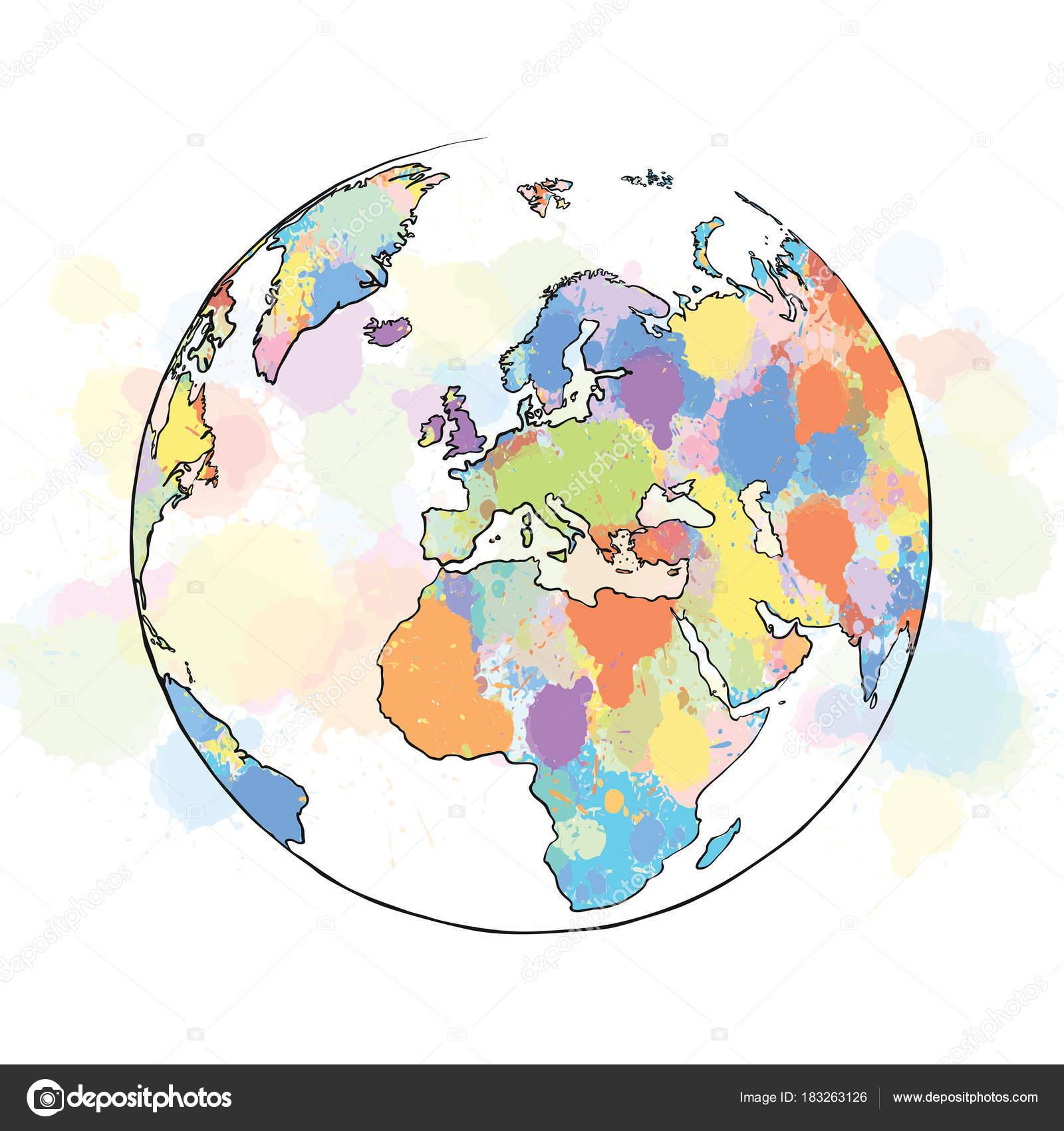 【Royalty Free】 Dünya Resmi Boyama Renkli