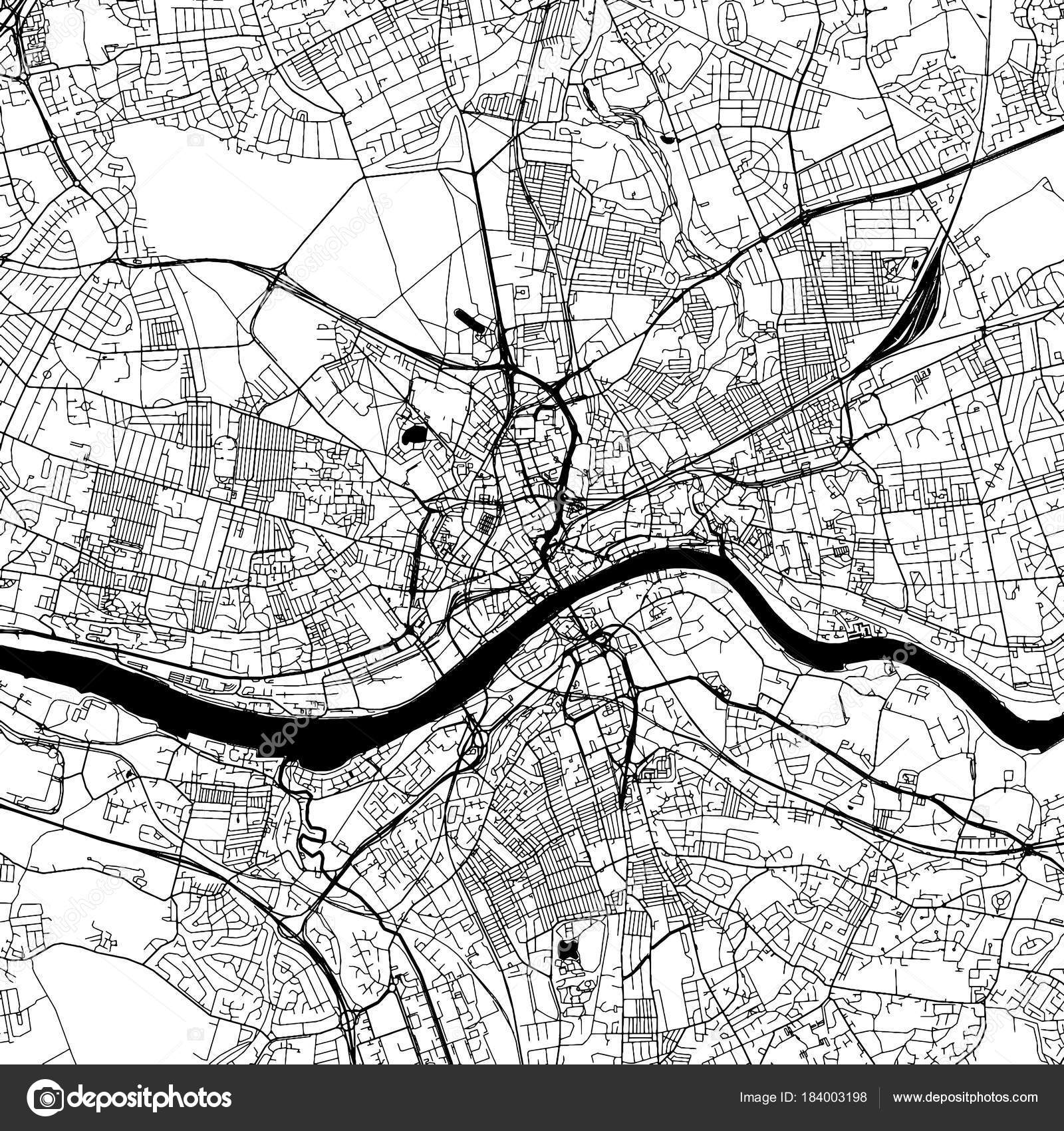 Ньюкасл на карте