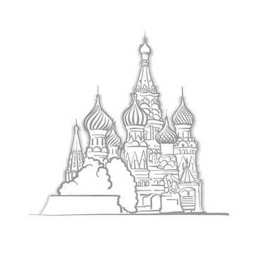 Moscow Saint Basils Cathedral Sketch