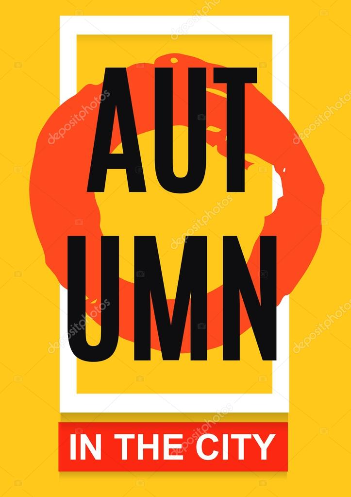 autumn banner poster or flyer a4 abstract vector illustration
