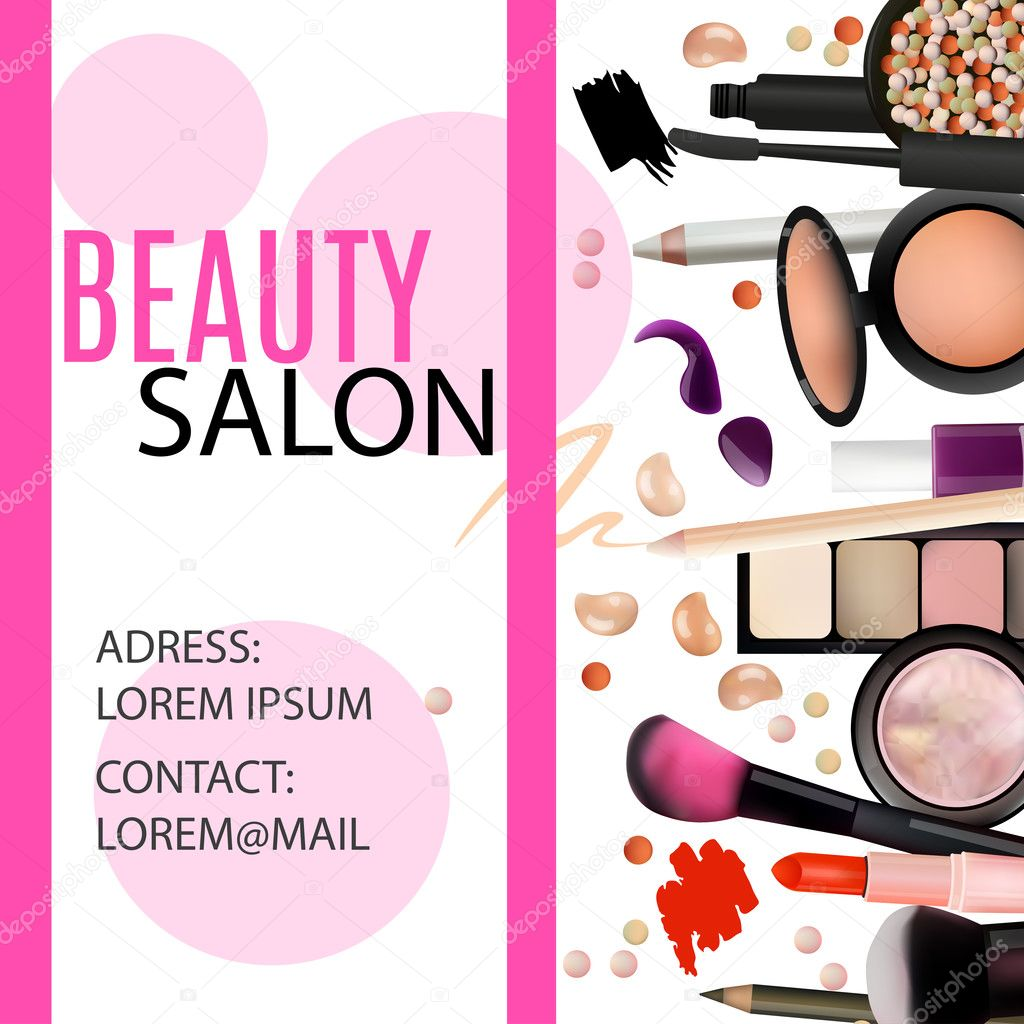 Beauty salon design cosmetic products professional make for Salon blueprint maker