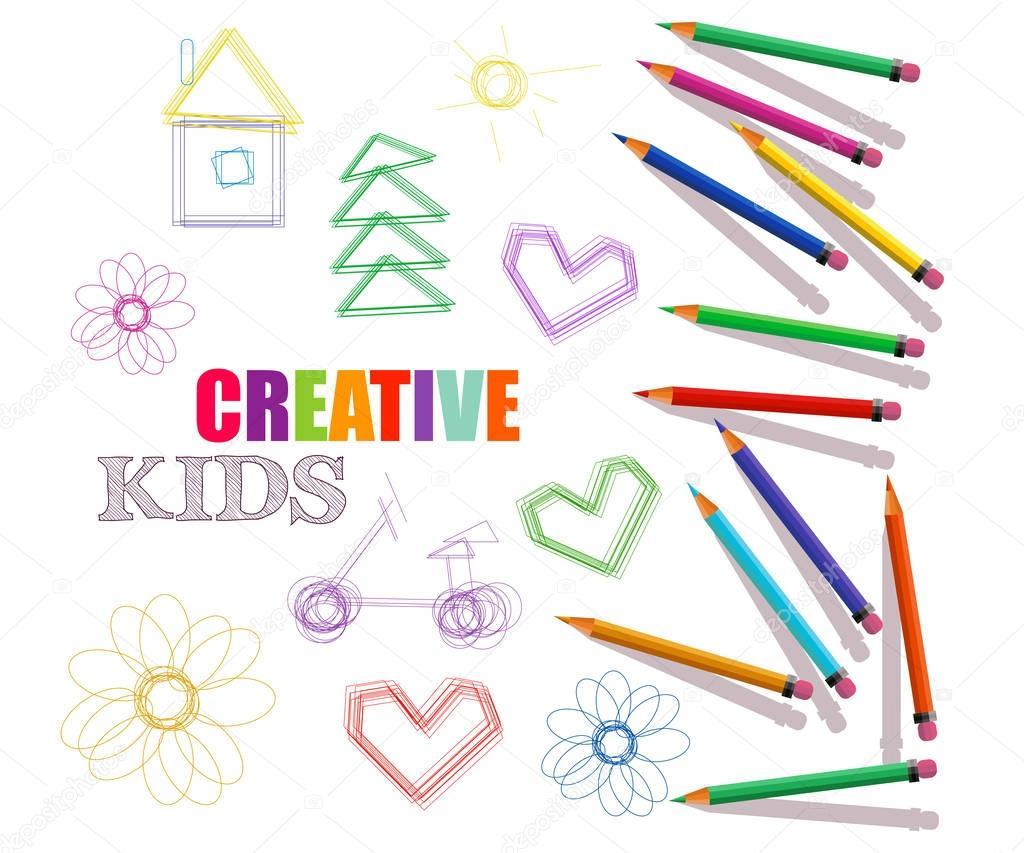 plantilla creativa para el estudio de arte, laboratorio, cursos para ...