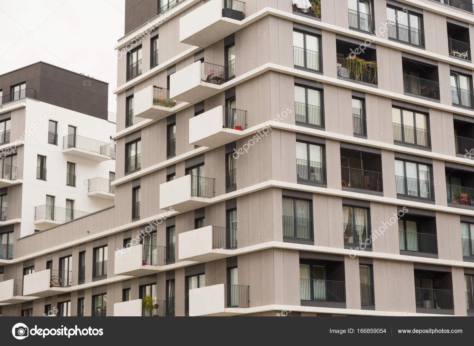 Zeitgenössisches Design von Mehrfamilien Wohnhäuser. Moderne Luxus ...