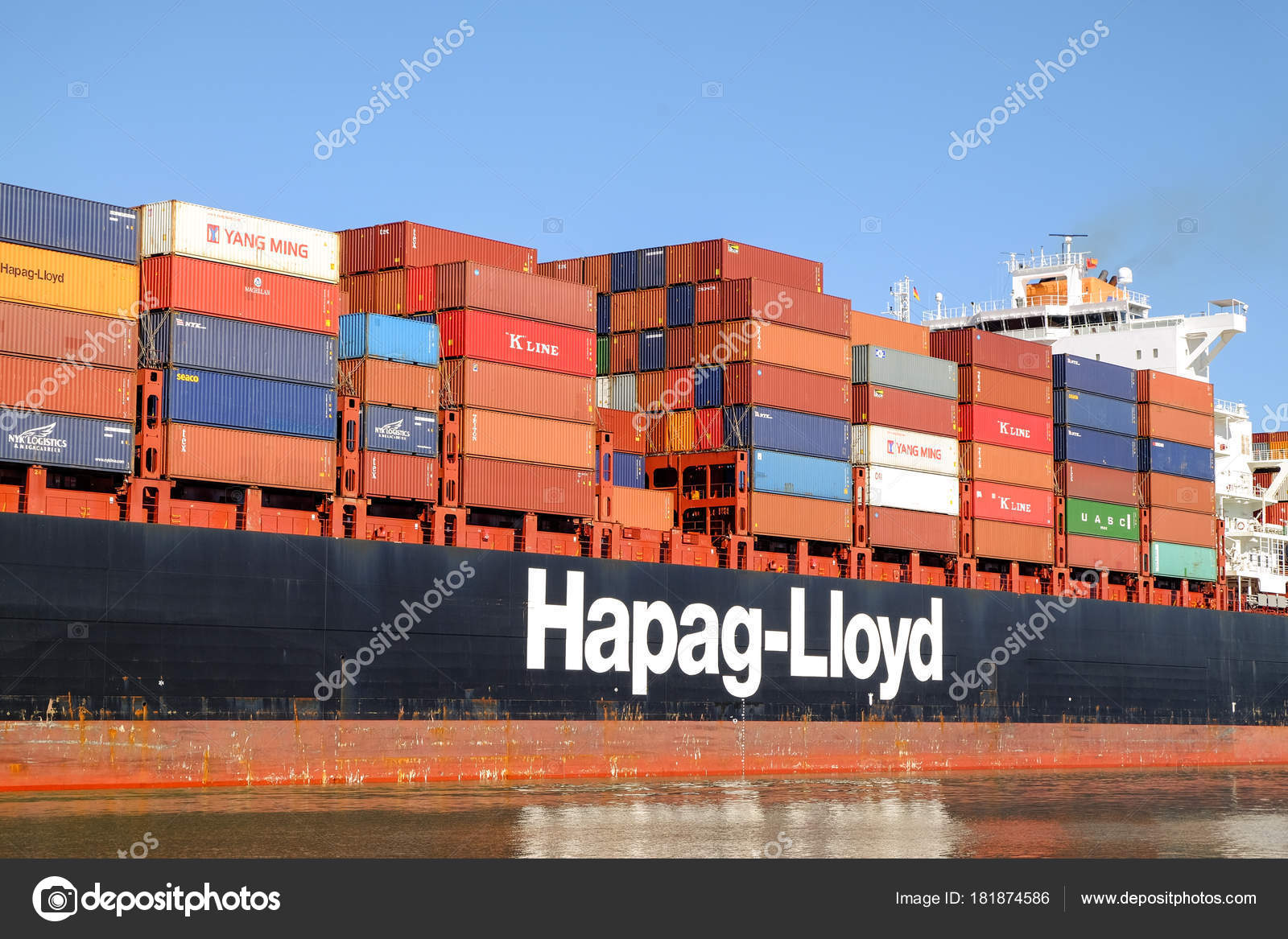 Huge container ship – Stock Editorial Photo © irkin09 #181874586