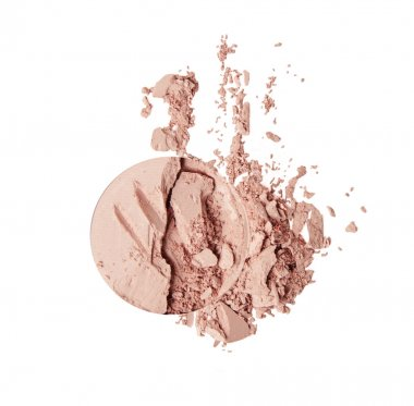 scattered pink powder