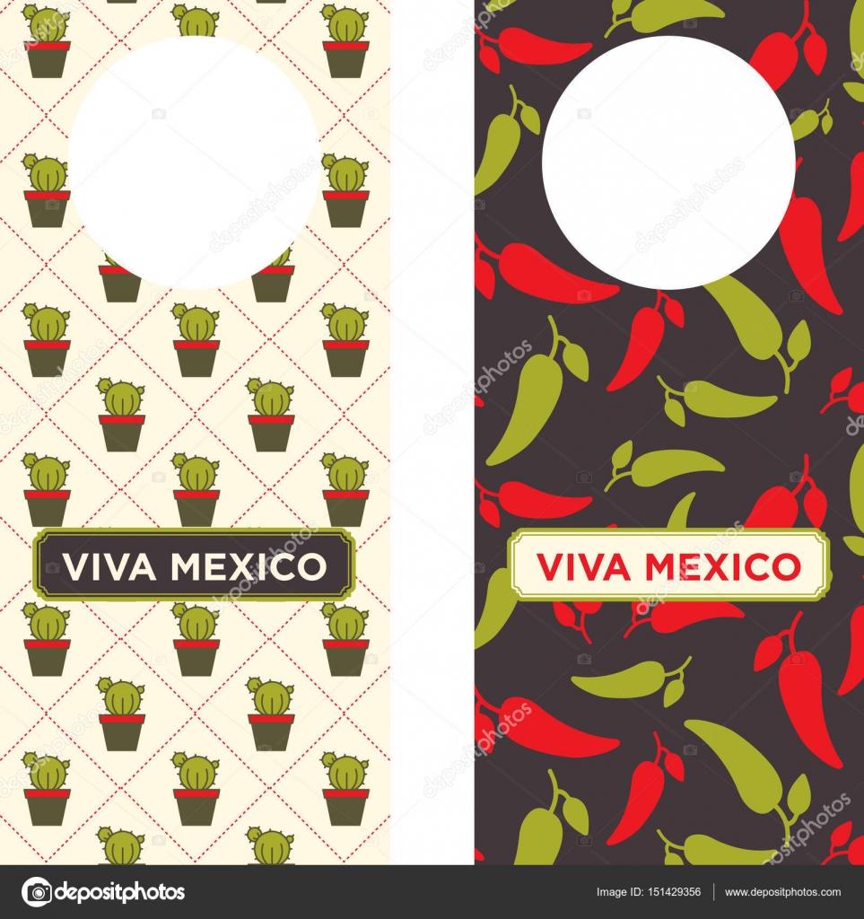 Mexican Printable Door Knob Hangers — Stock Vector © LuOtero #151429356