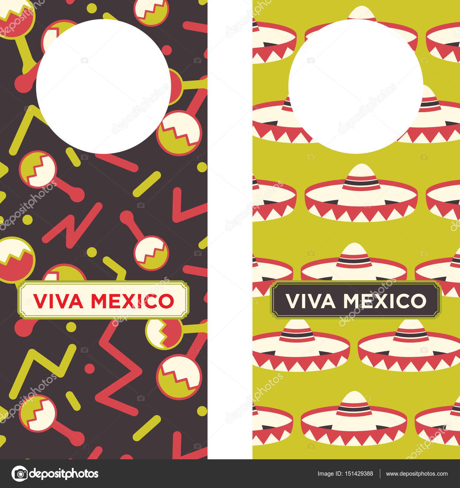 Mexican Printable Door Knob Hangers — Stock Vector © LuOtero #151429388