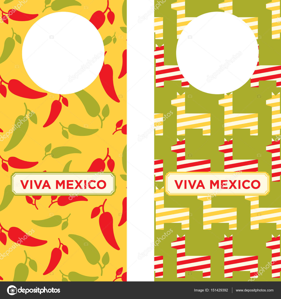 Mexican Printable Door Knob Hangers — Stock Vector © LuOtero #151429392
