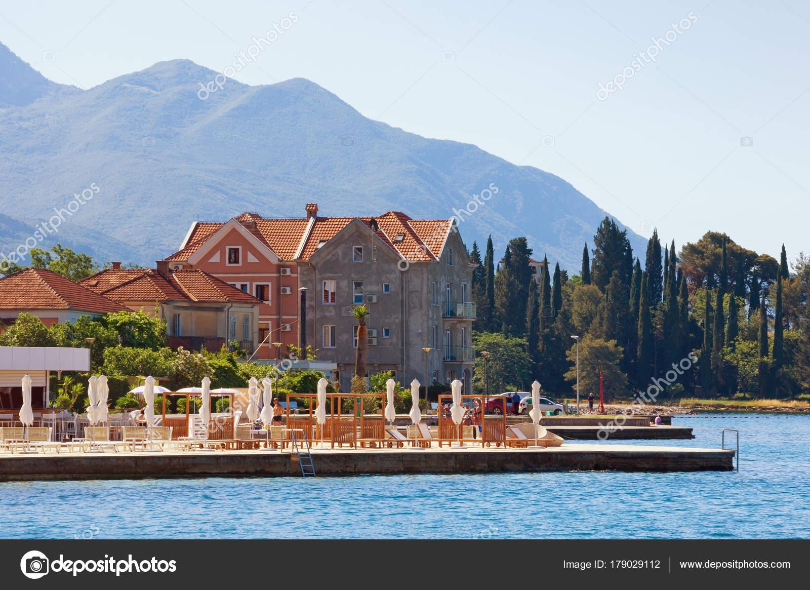 summer vacation montenegro view of bay of kotor adriatic sea
