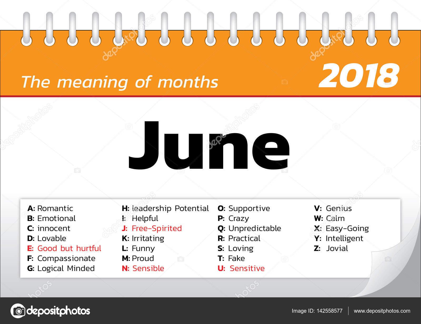 Calendario Significato.Il Significato Del Modello Di Calendario Mesi Vettoriali
