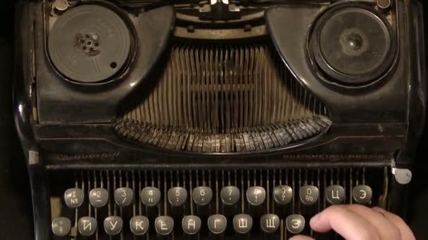 Író gép retro írás gépelés. Nézd meg felülről.