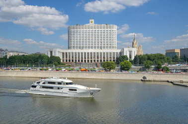 The house of the government of the Russian Federation in Moscow, Russia