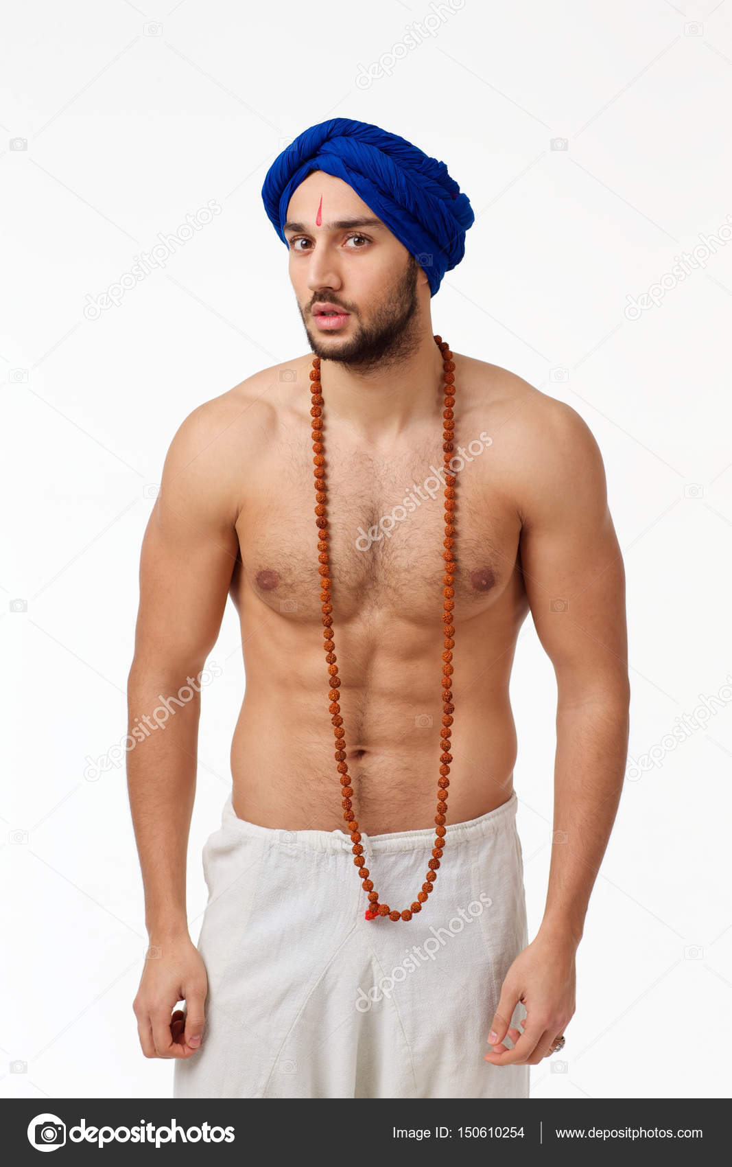Homem Indiano Muscular Nu  Stock Photo  Kivphotomaker -7222