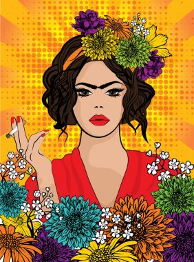 Pop Art Frida Kahlo styl