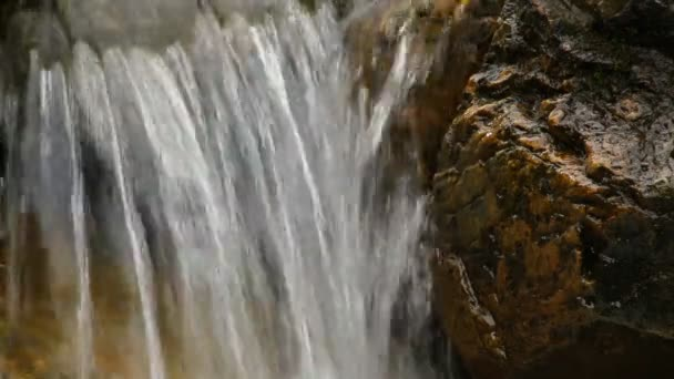 Water dripping from the rock. With sound — Stock Video ...