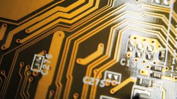Elektronische Schaltkreise verschwimmen. Elektronische Schaltung verschwimmen, Computer schließen