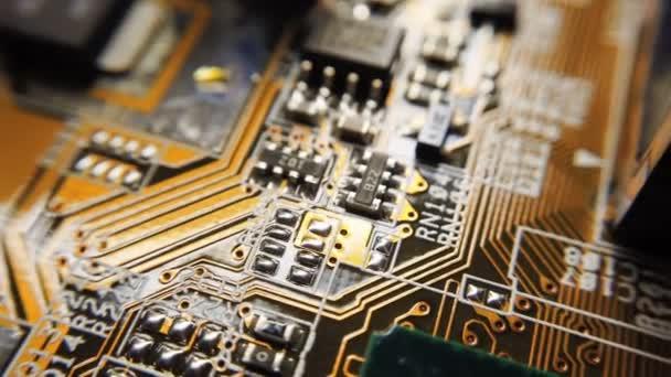 Elektronikus áramkör elmosódás. Homályos elektronikus áramkör közeli számítógép