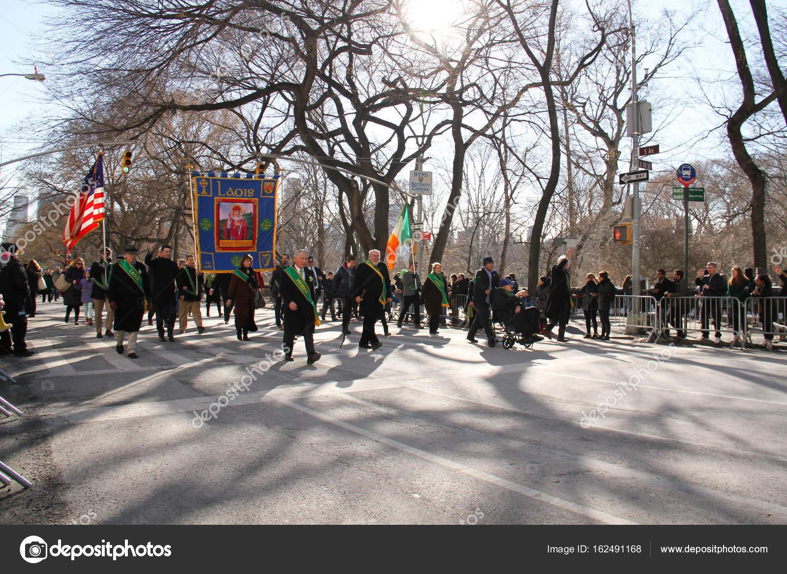 Manhattan New York March 2017 Part Parade Big Banner Patrick