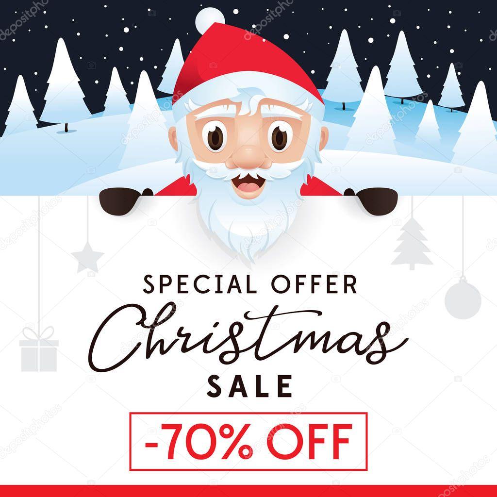 Christmas Sale Prospekt Werbeplakat Für Website Und Shop Rabatt Bis ...