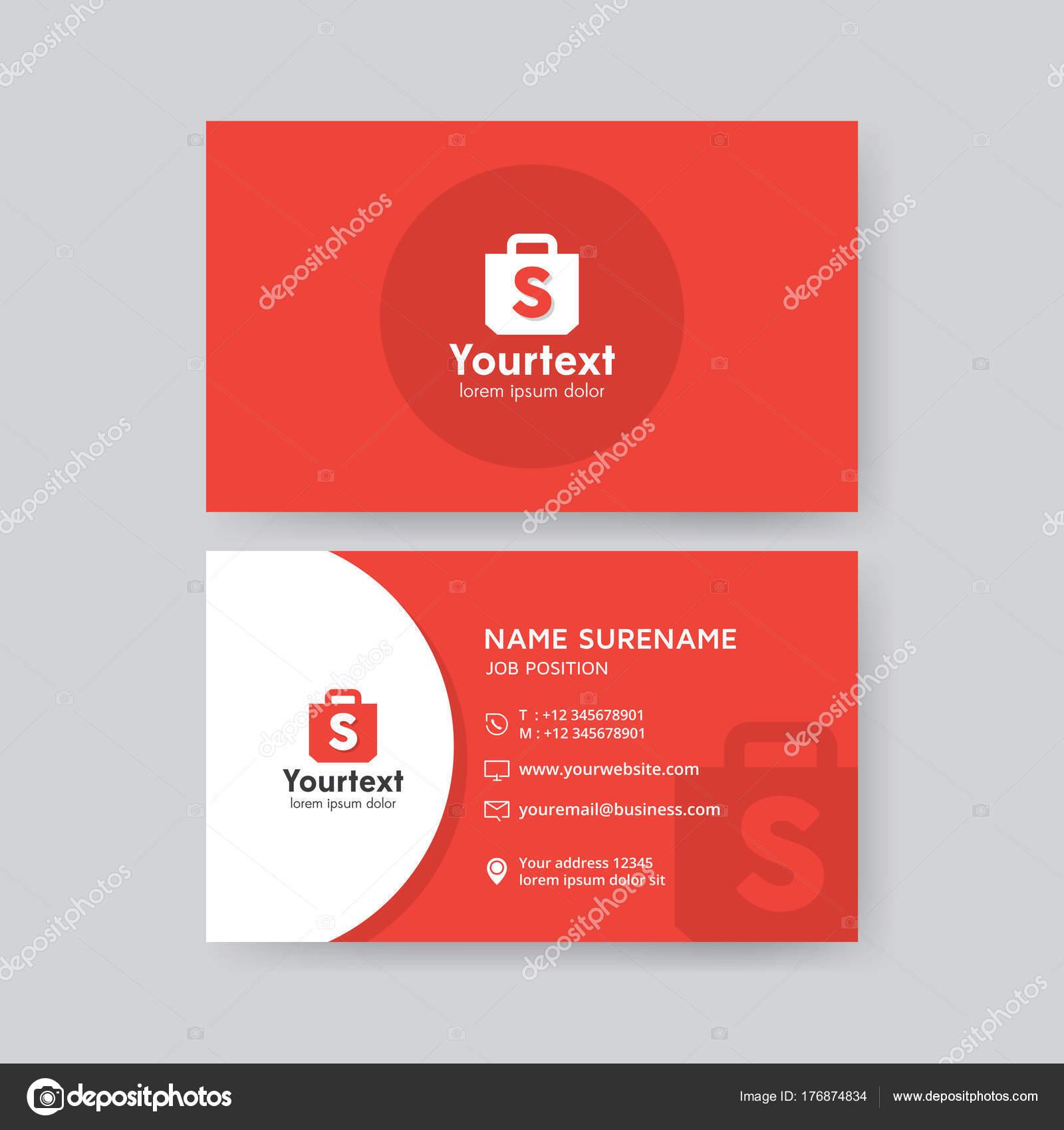 Vecteur Cration Moderne Propre Modle Carte Visite Design Plat Couleur Image Vectorielle