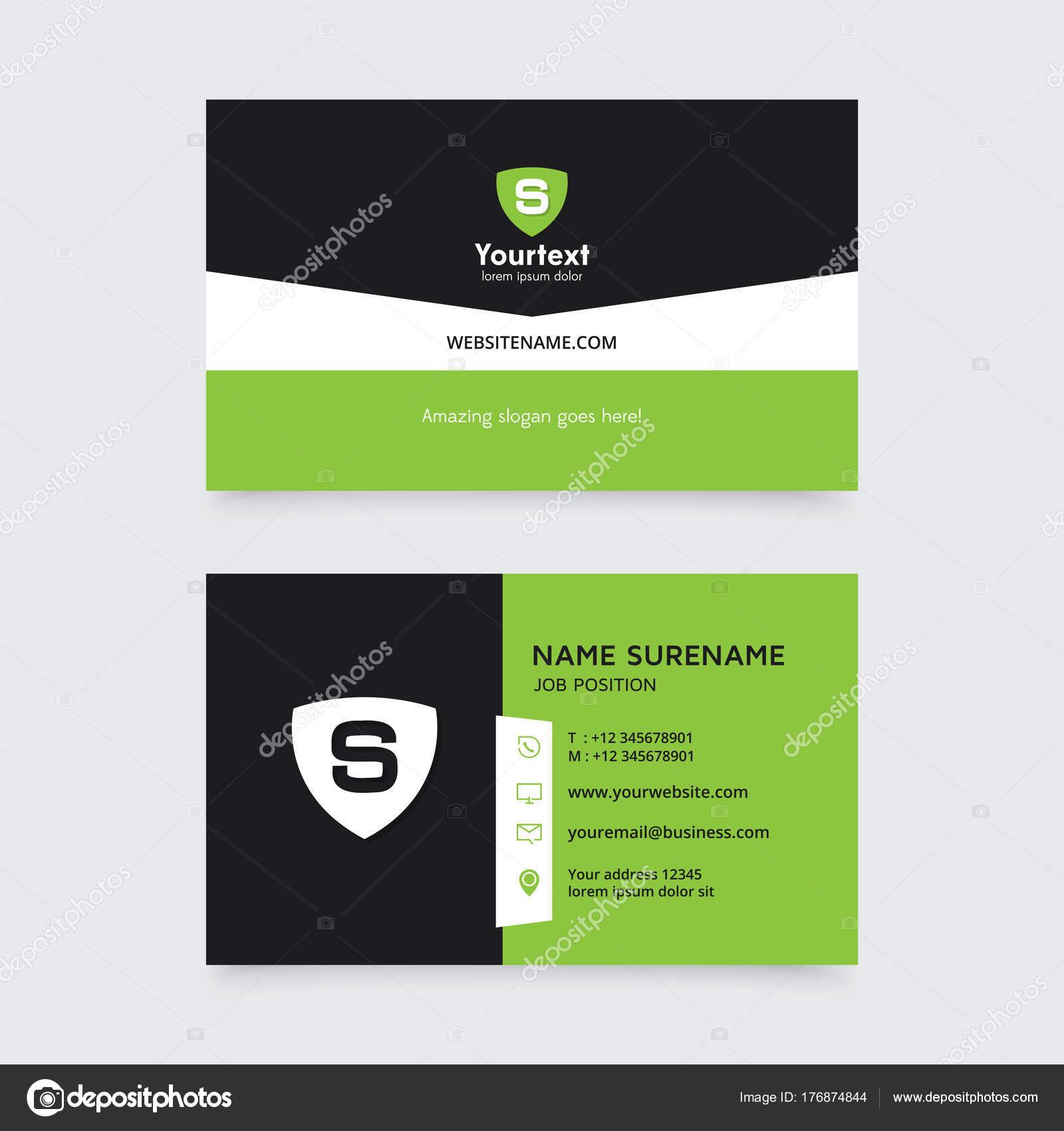 Vector Modern Creative Clean Business Card Template Flat Simple ...