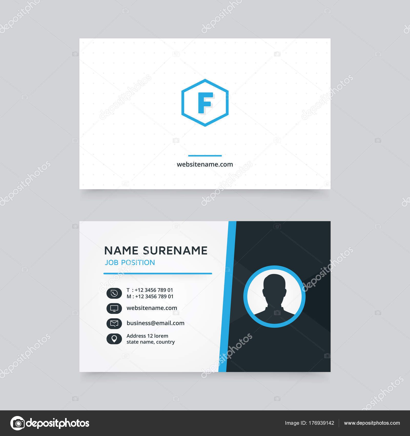 Vector Modern Creative Clean Business Card Template Flat