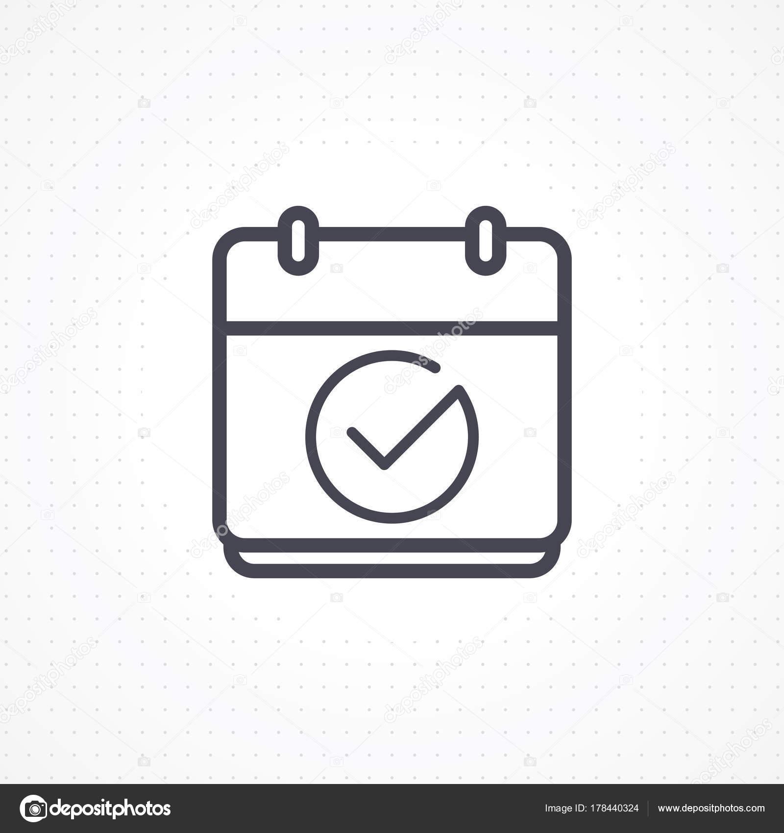 Calendrier A Cocher.Icone Calendrier Calendrier Icone Vector Avec Case Cocher