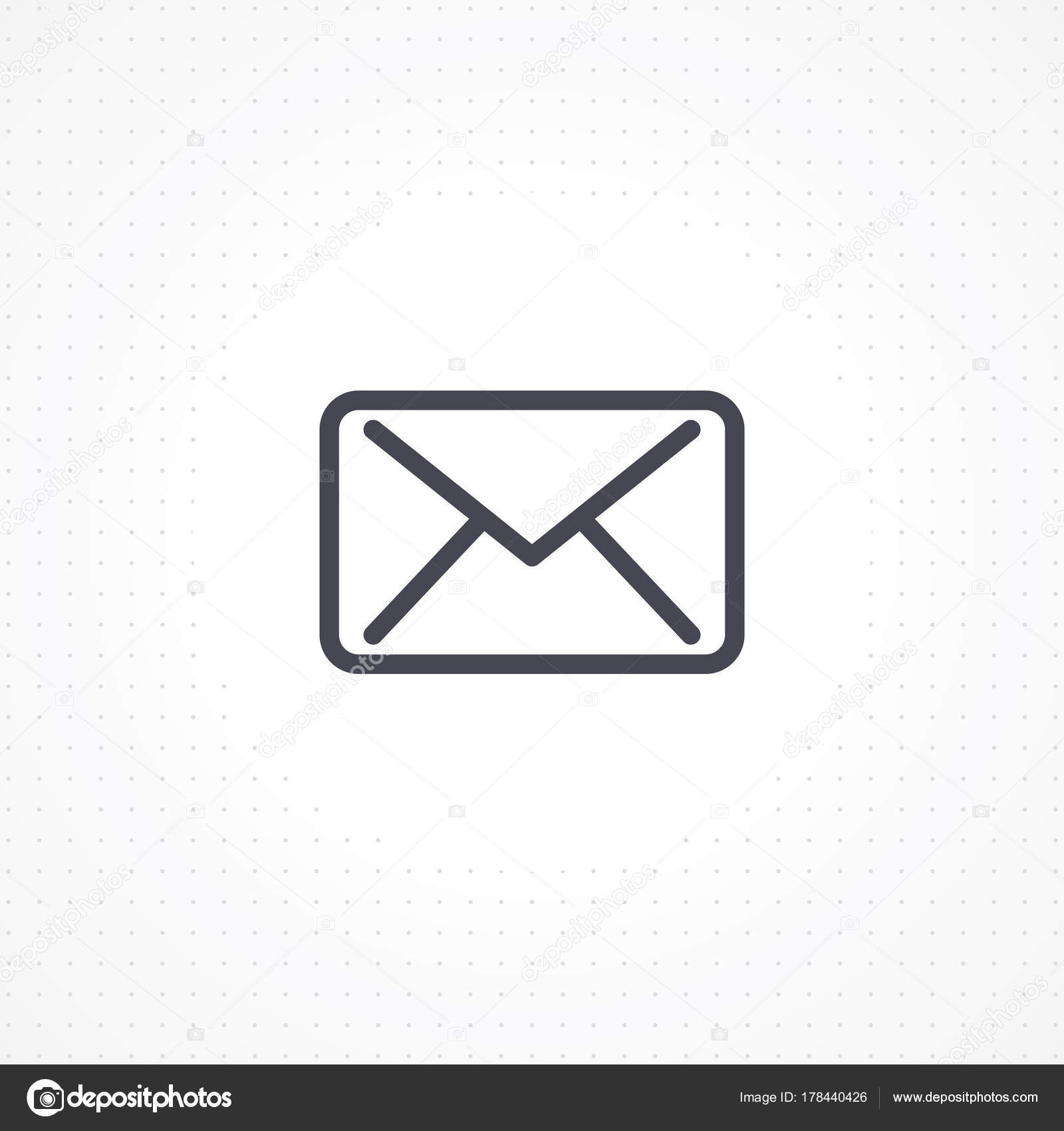 Email Icon White Background Outline Email Icon Business Cards